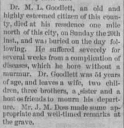 Dr Milton LaFayette Goodlett