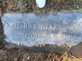 Ollie Ray Allensworth