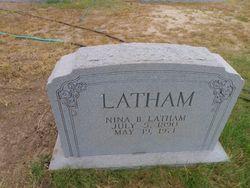 Nina Belle <I>Hardwick</I> Latham