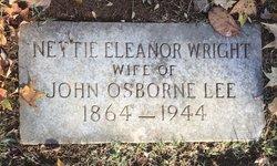 Nettie Eleanor <I>Wright</I> Lee