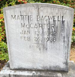 """Martha C """"Mattie"""" <I>Bagwell</I> McCarter"""