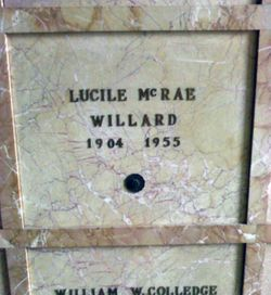 Lucille Coleman <I>McRae</I> Willard