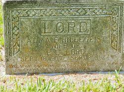 Alma E. <I>Hillegeist</I> Lord