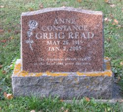 Anne Constance <I>Greig</I> Read
