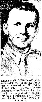 Capt Alexander McCarrell Patch, III