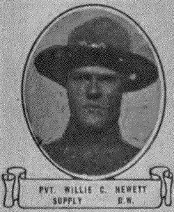 Pvt Willie Cross Hewett