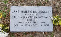 Jane <I>Bailey</I> Billingsley
