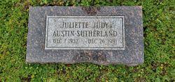 "Juliette Starr ""Judy"" <I>Austin</I> Sutherland"