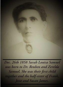"""Sarah Louise """"Sallie"""" <I>Samuel</I> Nicholson"""