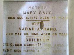 Sarah A. <I>Proud</I> Rand