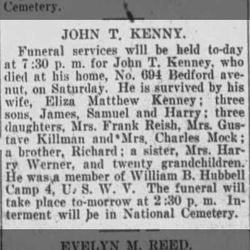 John T Kenney