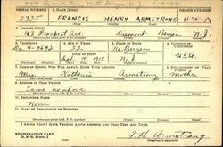 1Lt Francis Henry Armstrong