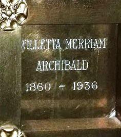 Willetta Elizabeth Archibald
