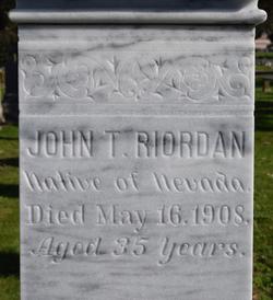 John T Riordan