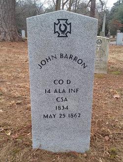 Pvt John Barron
