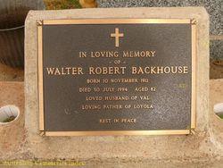 Walter Robert Backhouse