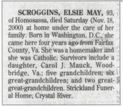 Elsie May <I>Tipton</I> Scroggins