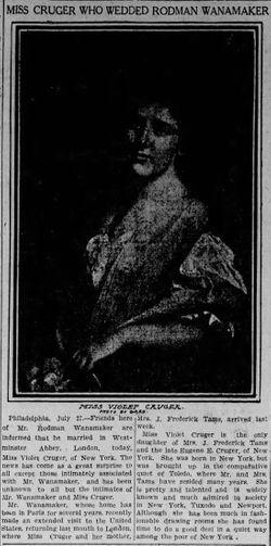 Violet Douglas Marie Cruger