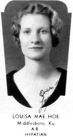 Louisa Mae <I>Hoe</I> Cawood