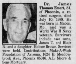 Dr James Thomas Emert