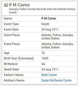 Pinson M Carter
