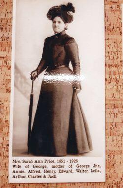 Sarah Ann Newsome <I>Roe</I> Price