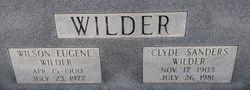 Annie Clyde <I>Sanders</I> Wilder