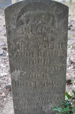 Infant Daughter of Neil and Willie A. Anderson