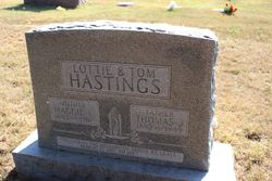 "Maggie C. ""Lottie"" <I>Adkisson</I> Hastings"