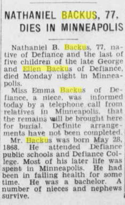 Nathaniel Bishop Backus