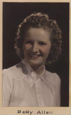 """Elizabeth Mae """"Betty"""" <I>Allen</I> Hartford"""