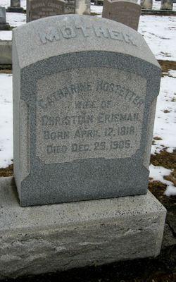 Catharine <I>Hostetter</I> Erisman
