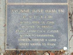 Yvonne June Hamlyn