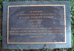 """Col Richard """"Zarvona"""" Thomas"""