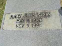 Mary John Moree Webb (1932-1994) - Find A Grave Memorial
