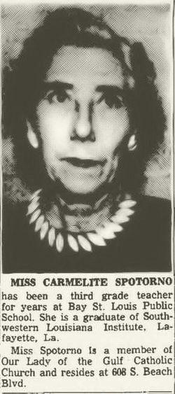 "Carmelite ""Mellie"" Spotorno"