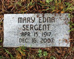Mary Edna <I>White</I> Sergent