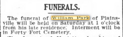 Corp William B Park