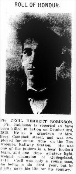 Private Cecil Herbert Robinson