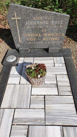 Johanna Francisca <I>Rietberg</I> Rave