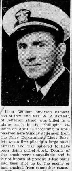 LT William Emerson Bartlett