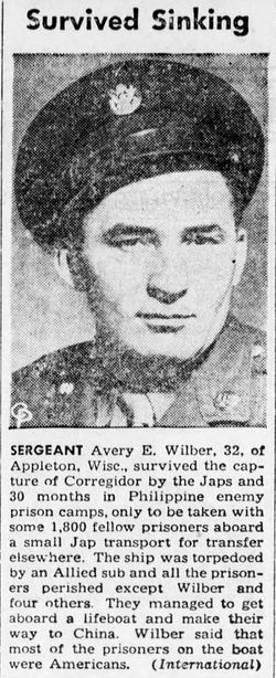 Sgt Avery Edward Wilber