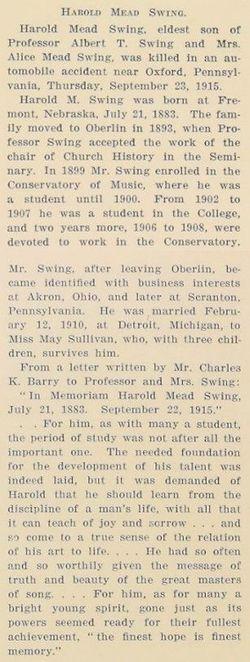 Harold Mead Swing