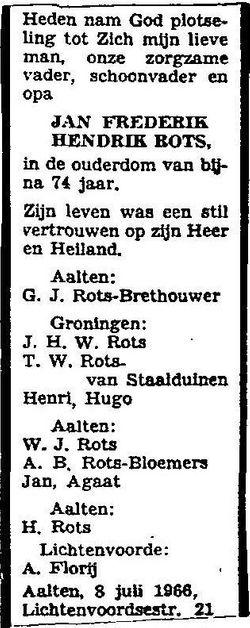 Jan Frederik Hendrik Rots