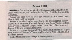 Emma Jean <I>Tsosie</I> Hill