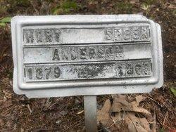 Mary <I>Speer</I> Anderson