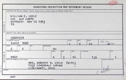 Corp William Edward Coyle