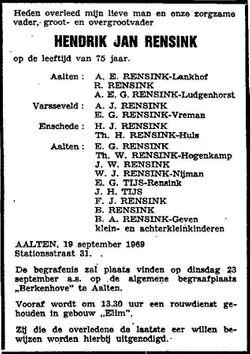 Hendrik Jan Rensink
