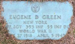 Sgt Eugene D Green