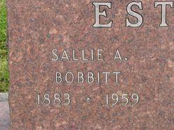 Sallie Ann <I>Bobbitt</I> Estes